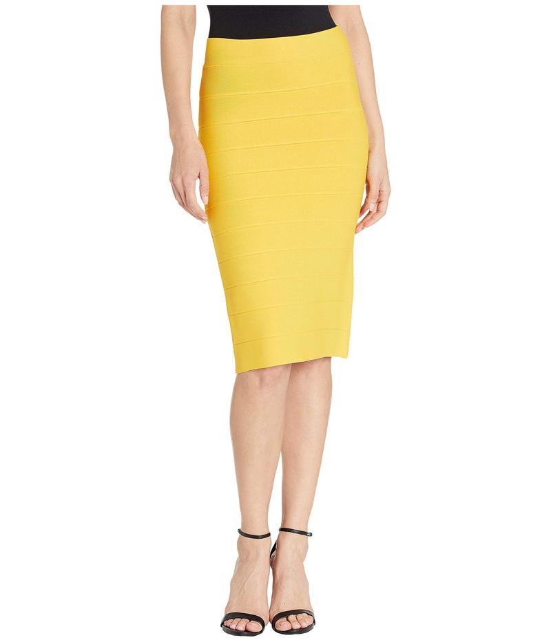 ビーシービージーマックスアズリア レディース スカート ボトムス Fitted Knit Skirt Citron