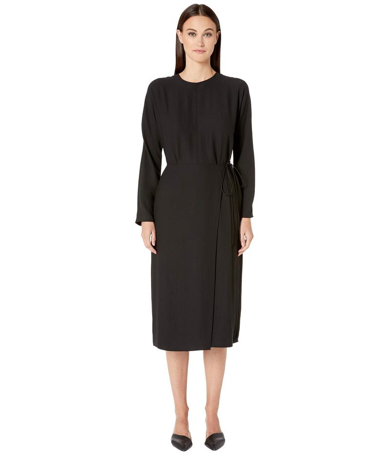 ヴィンス レディース ワンピース トップス Long Sleeve Button Dress Black