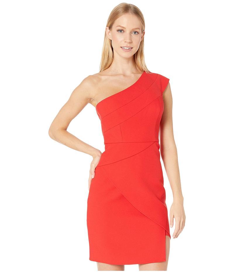 ビーシービージーマックスアズリア レディース ワンピース トップス One Shoulder Cocktail Dress Jewel Red