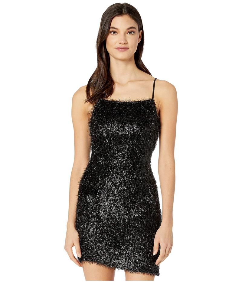 BCBジェネレーション レディース ワンピース トップス Fuzzy Mini Dress Black