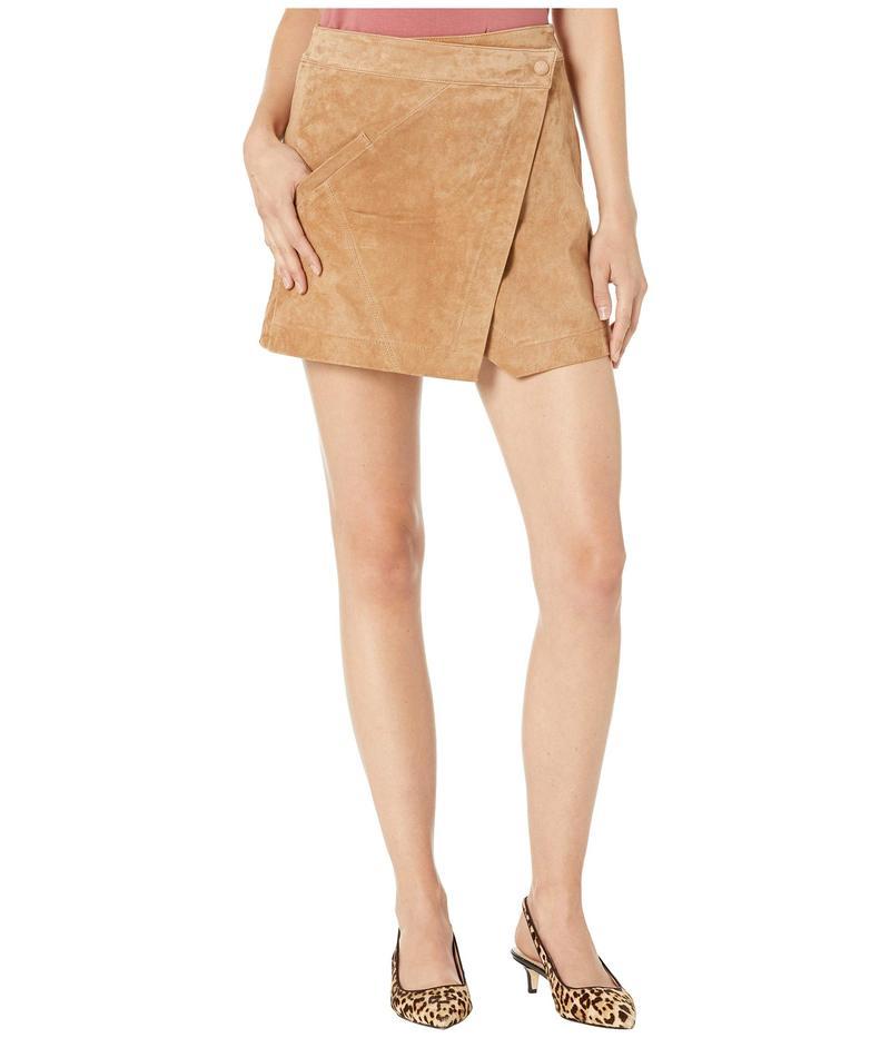 ブランクニューヨーク レディース スカート ボトムス Real Suede Mini Skirt in Almond Almond