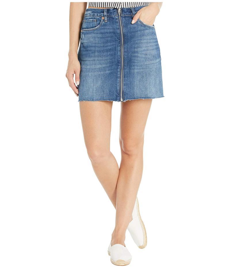 ブランクニューヨーク レディース スカート ボトムス Denim Mini Skirt with Zipper Detail in People's Champ People's Champ