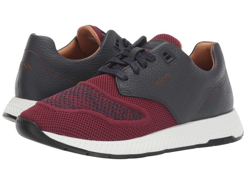 ヒューゴボス メンズ スニーカー シューズ Titanium Run Sneakers by BOSS Dark Red