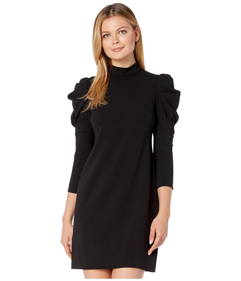 カルバンクライン レディース ワンピース トップス Puff Sleeve Sheath Dress Black