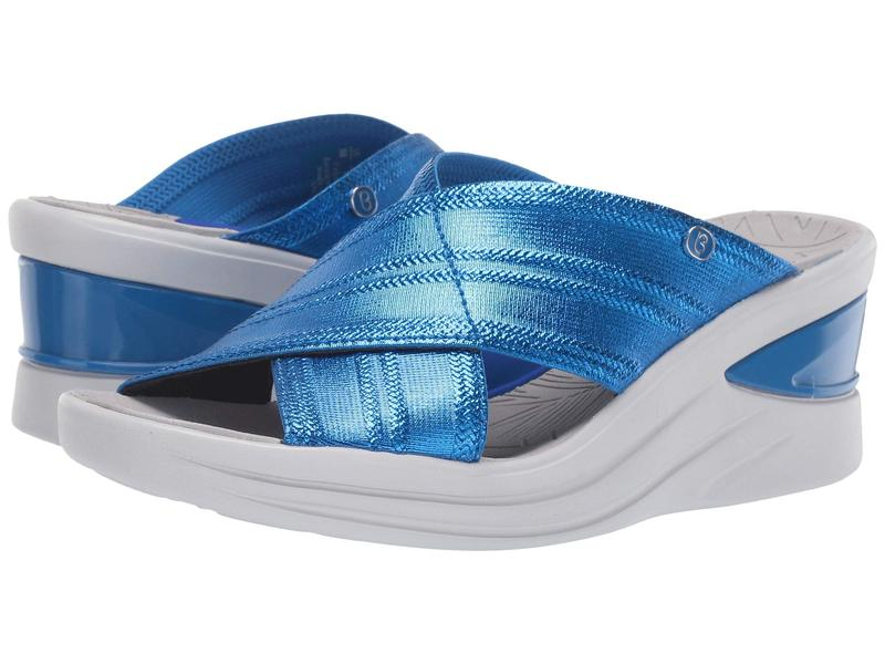 ビジーズ レディース ヒール シューズ Vista Bright Blue Metallic Fabric