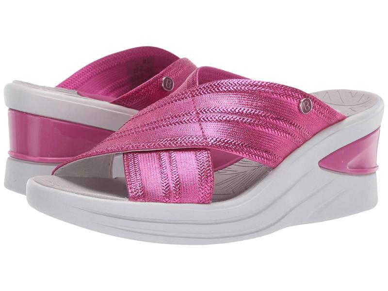 ビジーズ レディース ヒール シューズ Vista Pink Metallic Fabric