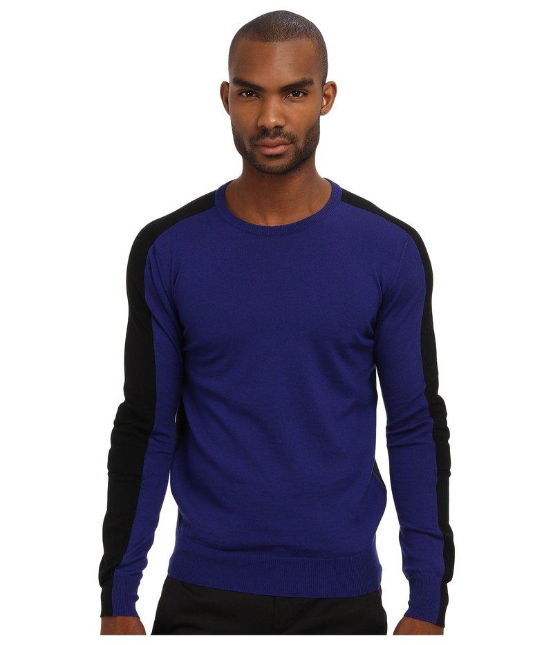 コスチュームナショナル メンズ ニット・セーター アウター Color Block Crewneck Sweater Blue