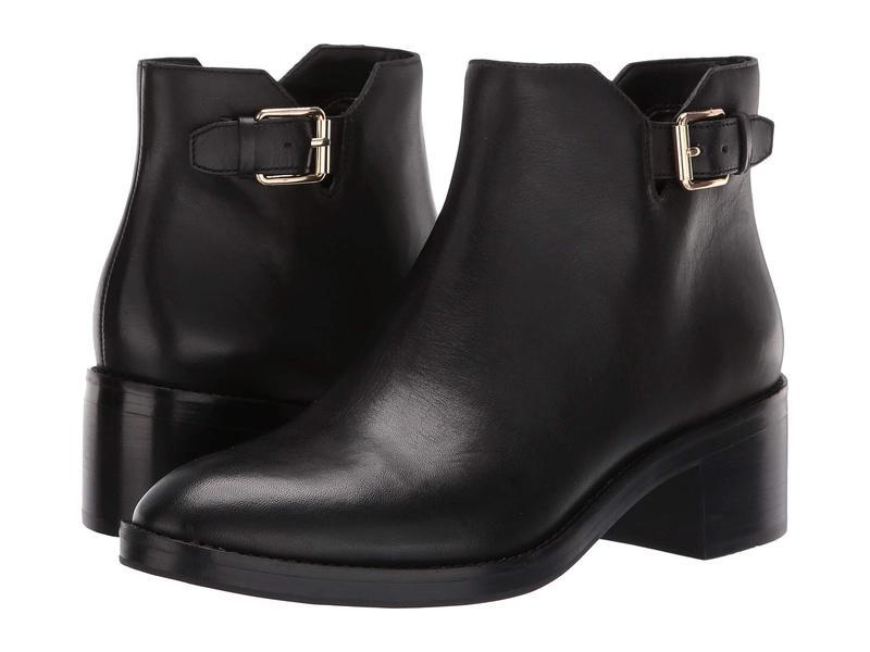 コールハーン レディース ブーツ・レインブーツ シューズ Harrington Grand Buckle Bootie Black Leather/Black Stack