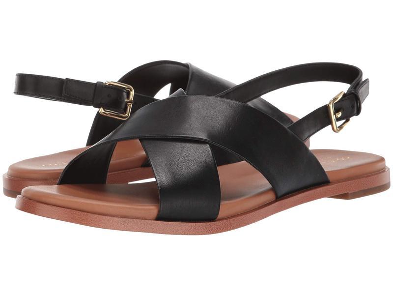 コールハーン レディース サンダル シューズ Fernanda Grand Flat Sandal Black Leather