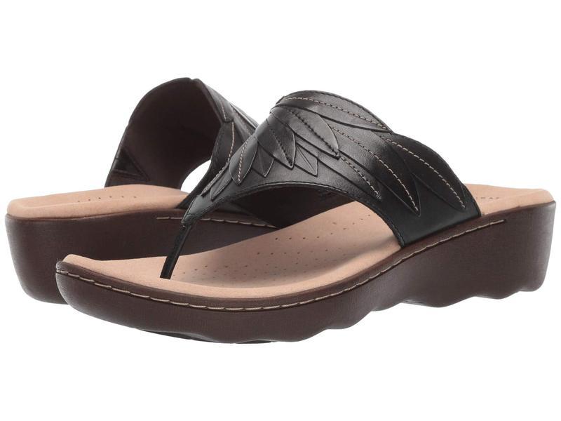 クラークス レディース サンダル シューズ Phebe Pearl Black Leather