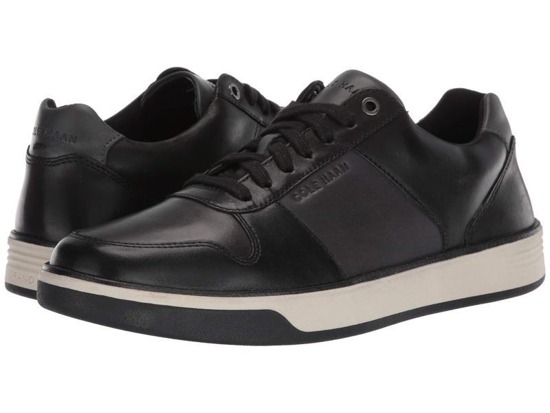 コールハーン メンズ スニーカー シューズ Grand Crosscourt Crafted Sneaker Black/Gray Pinstripe