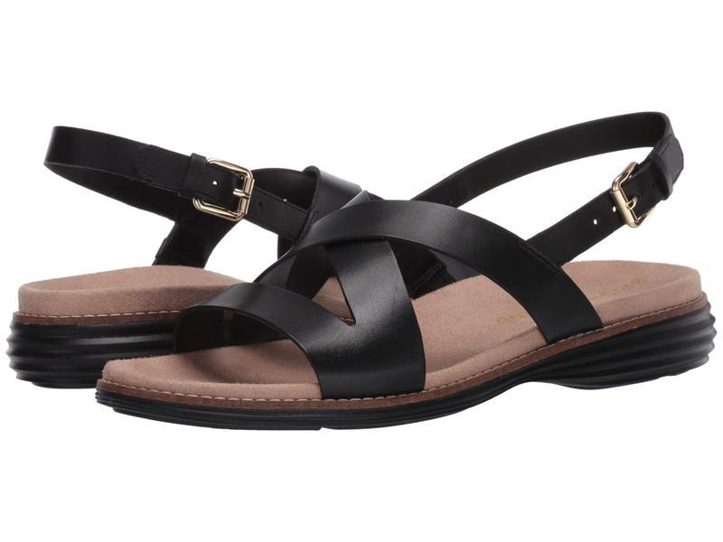 コールハーン レディース サンダル シューズ Original Grand Sandal Black Leather/Black