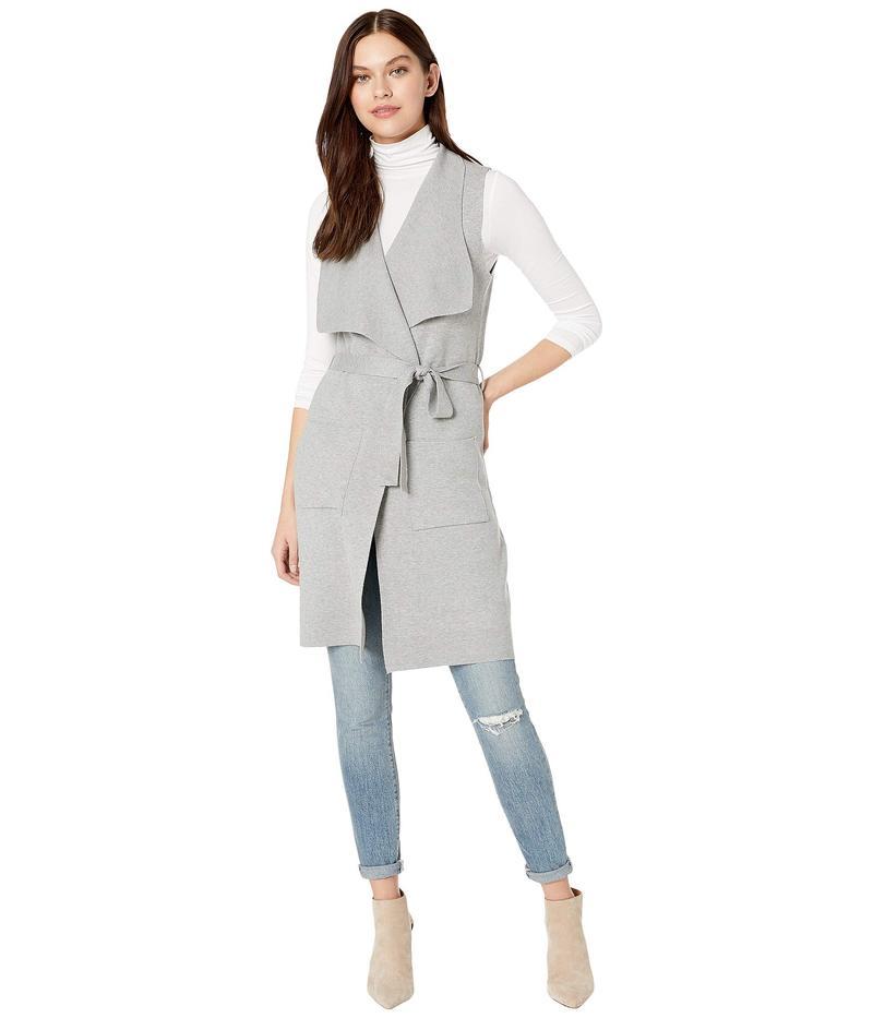 カップケーキアンドカシミア レディース コート アウター Carmen Drape Front Sweater Knit Vest Light Heather