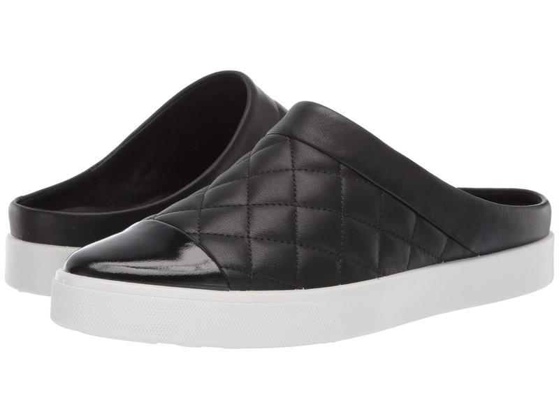 エコー レディース スニーカー シューズ Gillian Quilted Slide Black/Black Cow Leather/Cow Leather