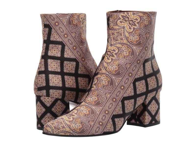 エトロ レディース ブーツ・レインブーツ シューズ Printed Ankle Boot Black Multi