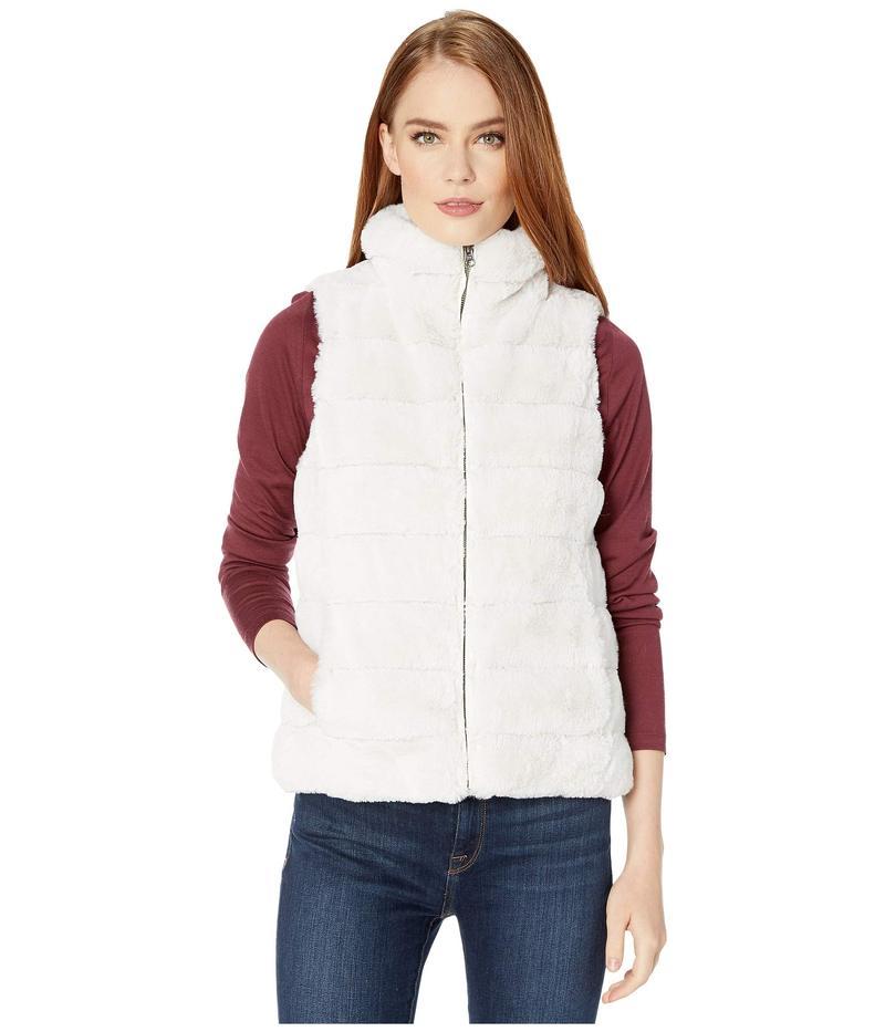 デイランバイトゥルーグリット レディース コート アウター Faux-Fur Love Vest with Matching Lining Vintage White