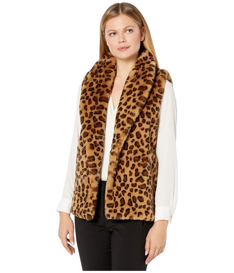 エコーデザイン レディース コート アウター Animal Faux Fur Vest Oatmeal