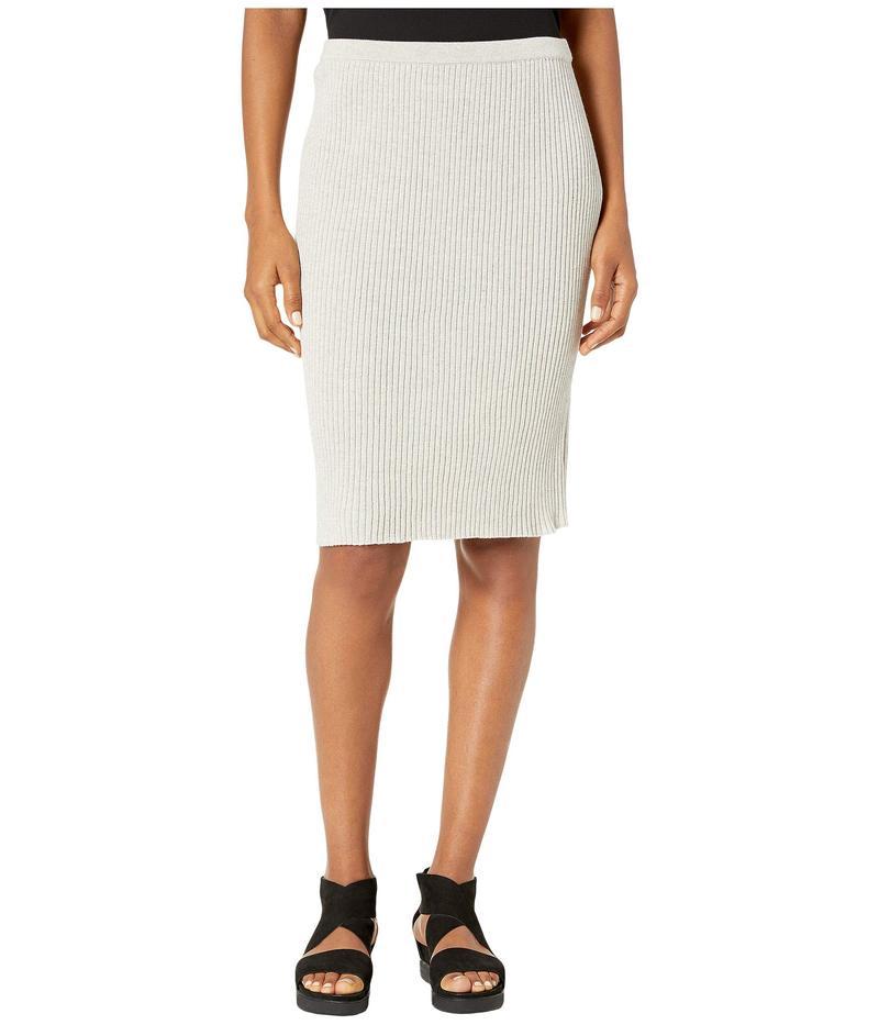 エイリーンフィッシャー レディース スカート ボトムス Washable Wool Rib Knee Length Skirt Sea Salt