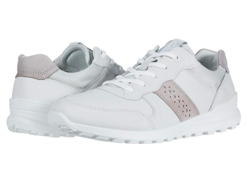 エコー レディース スニーカー シューズ CS20 Sneaker White/Grey Rose Cow Leather/Cow Nubuck