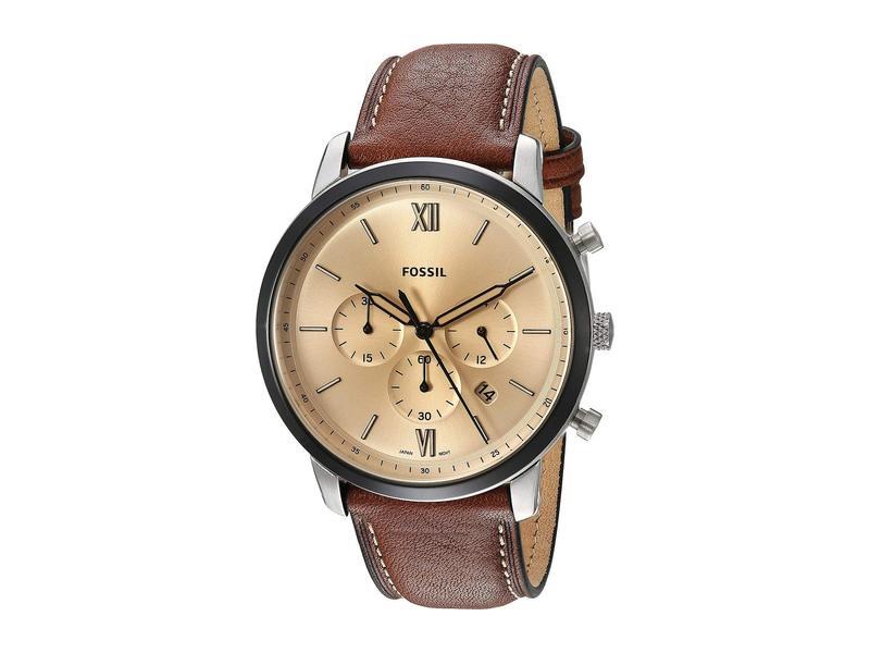 フォッシル メンズ 腕時計 アクセサリー Neutra Chronograph Watch FS5627 Silver Brown Leather