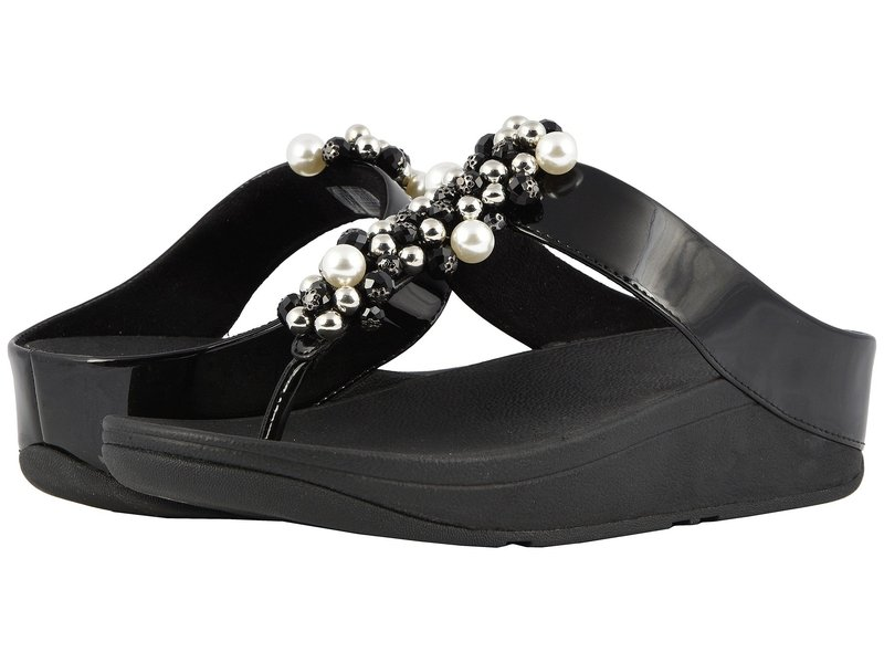 フィットフロップ レディース サンダル シューズ Deco Toe Thong Sandals Black