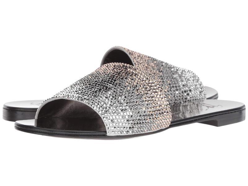ジュゼッペザノッティ レディース サンダル シューズ Adelia Rhinestone Slide Sandal Camoscio/Per Ricamo Bianco