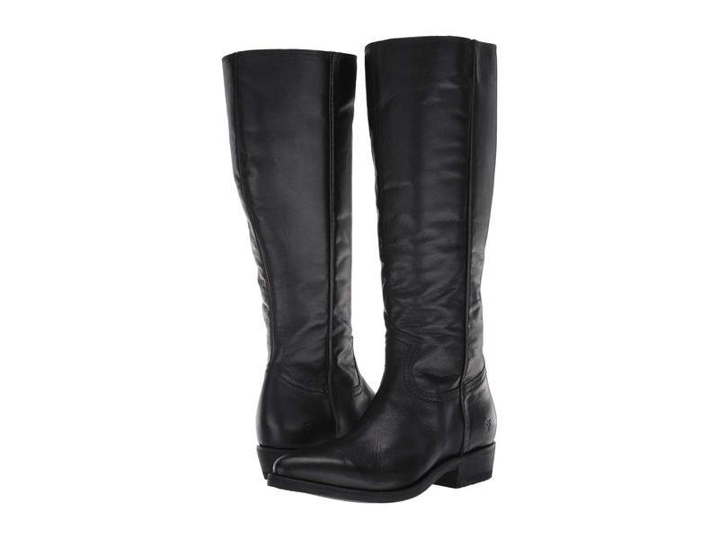フライ レディース ブーツ・レインブーツ シューズ Billy Inside Zip Tall Black Extended Full Grain Leather