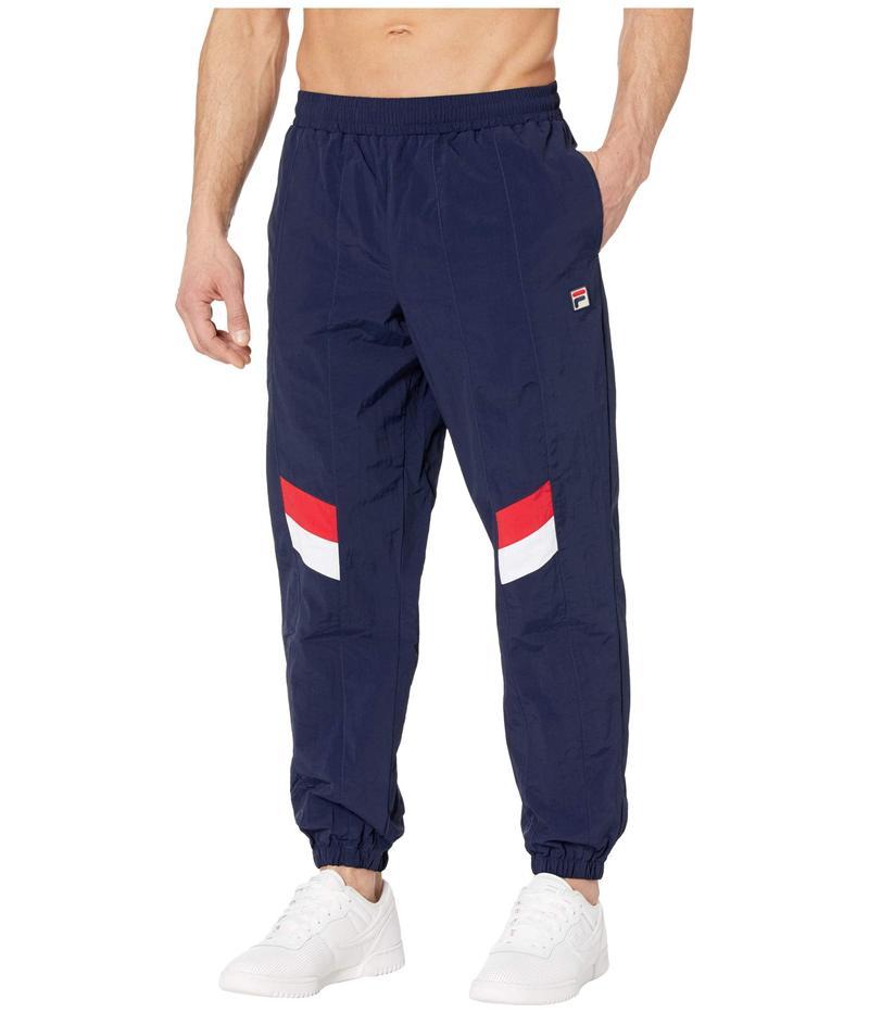 フィラ メンズ カジュアルパンツ ボトムス Zaim Track Pants with Cut and Sew Panels Peacoat/White/Chinese Red