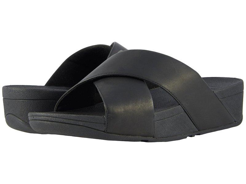 フィットフロップ レディース サンダル シューズ Lulu Cross Slide Leather Sandal Black