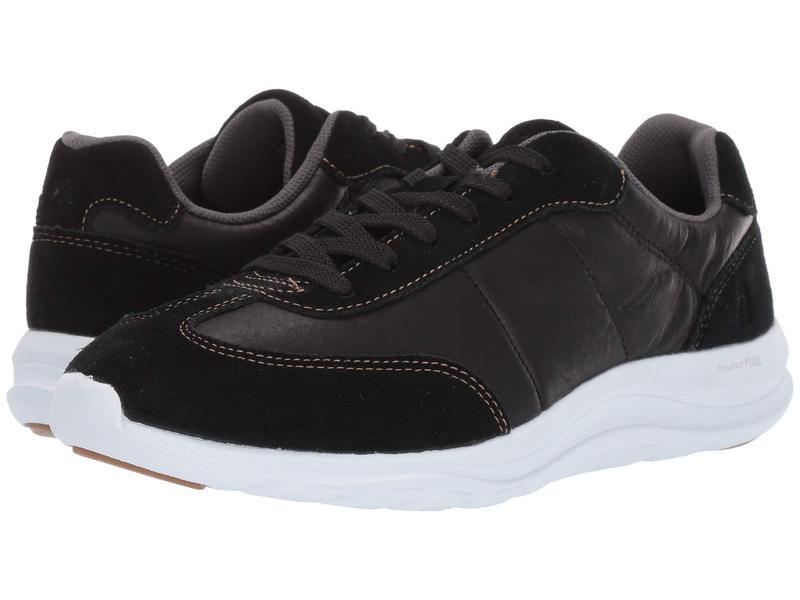 ハッシュパピー レディース スニーカー シューズ Cassidy Sneaker Black Suede/Leather/Dark Os