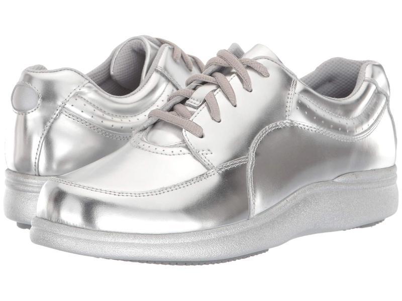 ハッシュパピー レディース スニーカー シューズ Power Walker Silver Metallic Leather
