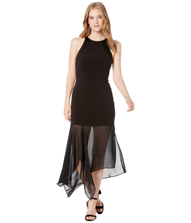 ホルストンヘリテイジ レディース ワンピース トップス Sleeveless Stitch Detail Crepe Georgette Dress Black