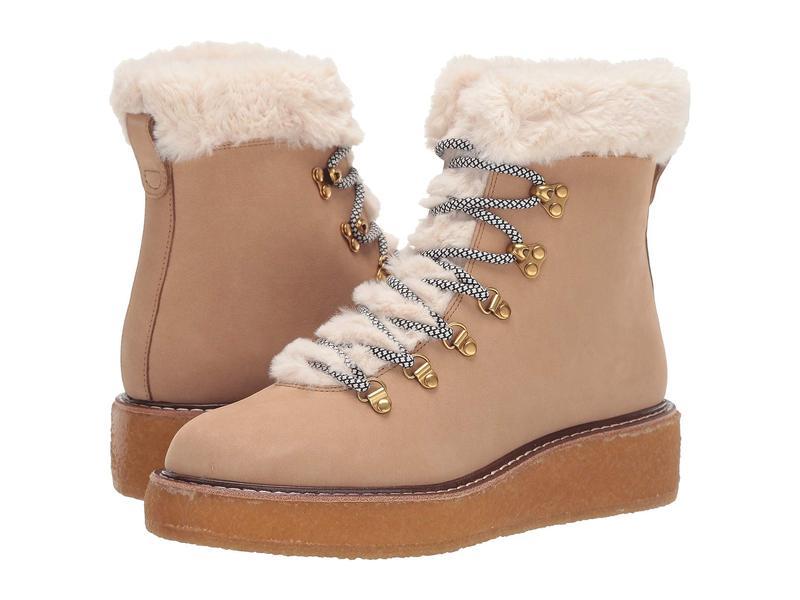 ジェイクルー レディース ブーツ・レインブーツ シューズ Nubuck Crepe Sole Wedge Winter Boot Golden Khaki