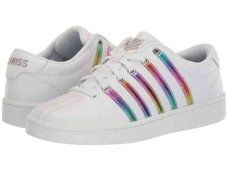 ケースイス レディース スニーカー シューズ Court Pro II CMF White/Rainbows