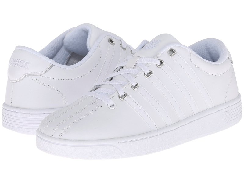 ケースイス レディース スニーカー シューズ Court Pro II CMF White/Silver Leather