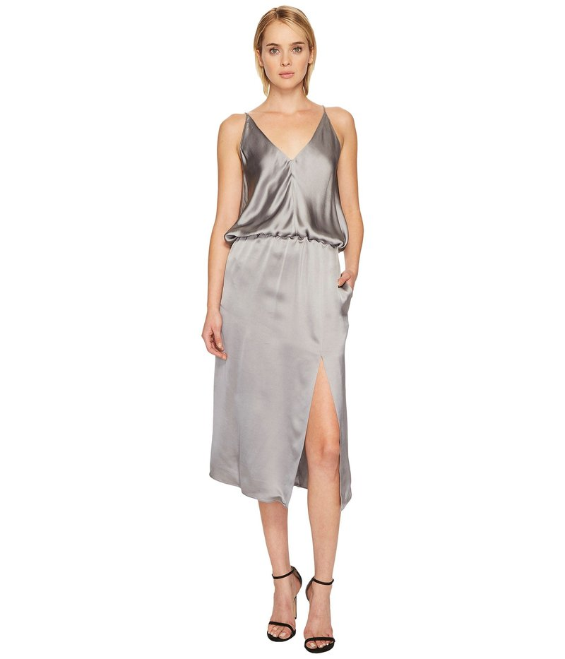 ジル サンダー レディース ワンピース トップス Sleeveless Cami Slip Dress with Slit Silver/Grey