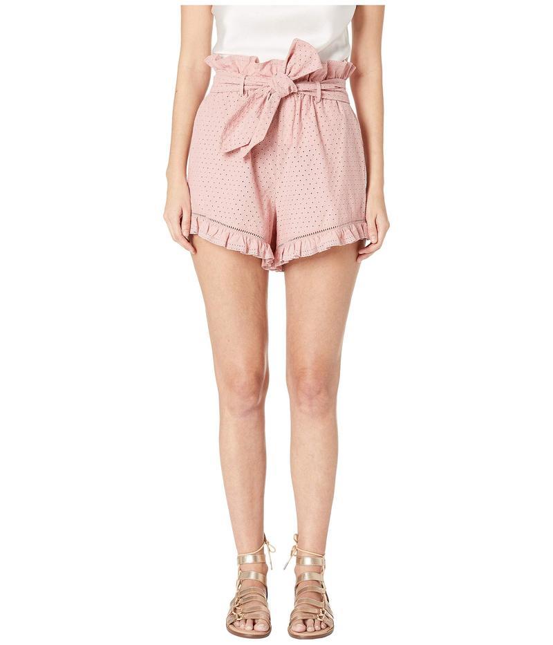 ジョナサンシムカイ レディース ハーフパンツ・ショーツ ボトムス Embroidered Ruffle Shorts Rose