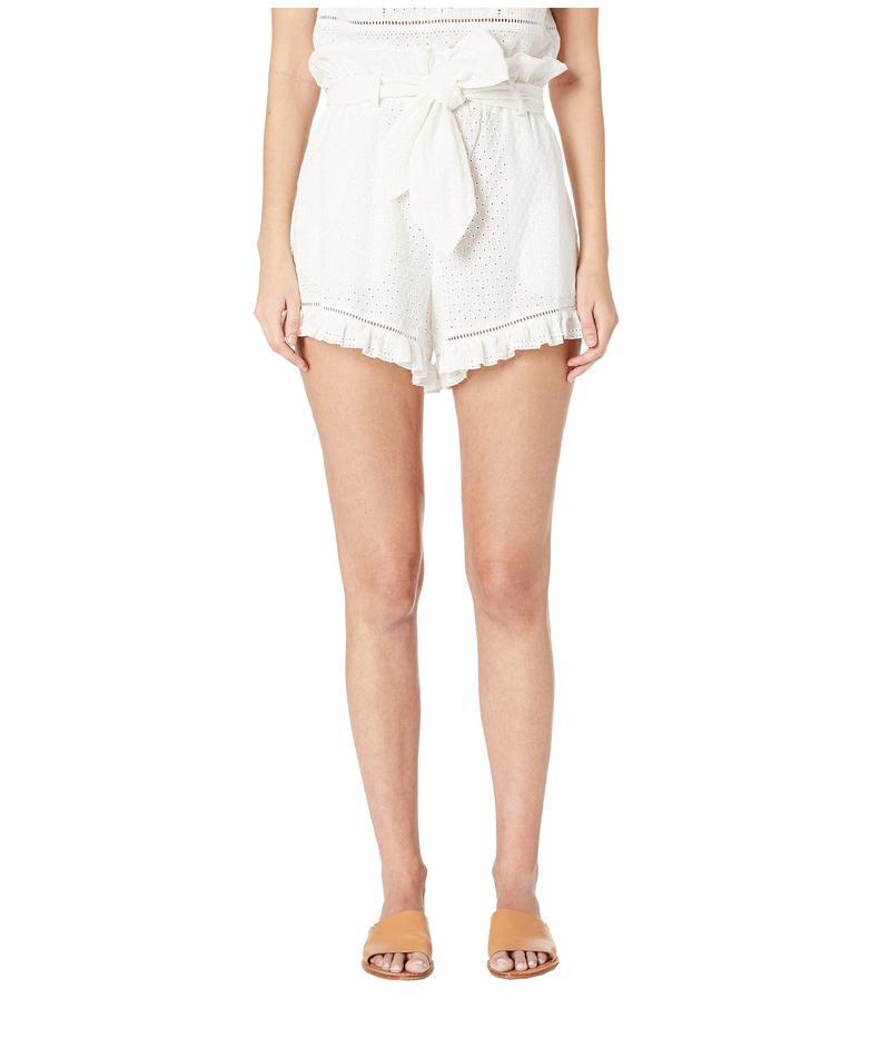 ジョナサンシムカイ レディース ハーフパンツ・ショーツ ボトムス Embroidered Ruffle Shorts White