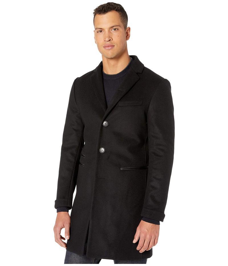 ジョンバルベイトス メンズ コート アウター Notch Lapel Long Coat O1893V3 Black