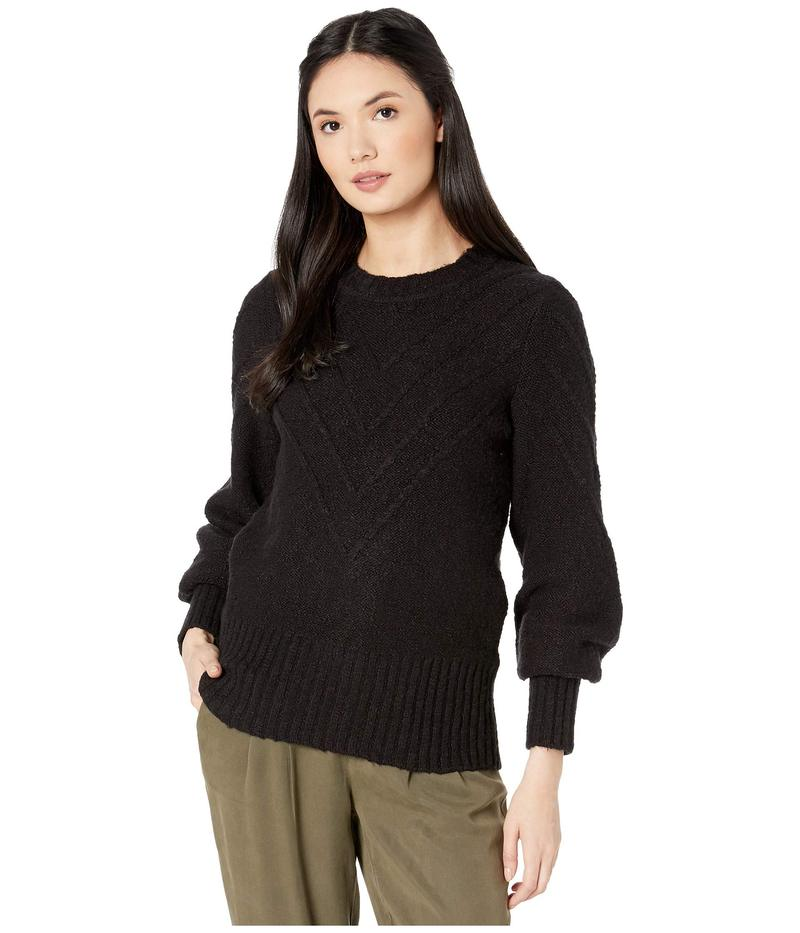 ケンジー レディース ニット・セーター アウター Varigated Cotton Blend Crew Neck Sweater KS0K5940 Black