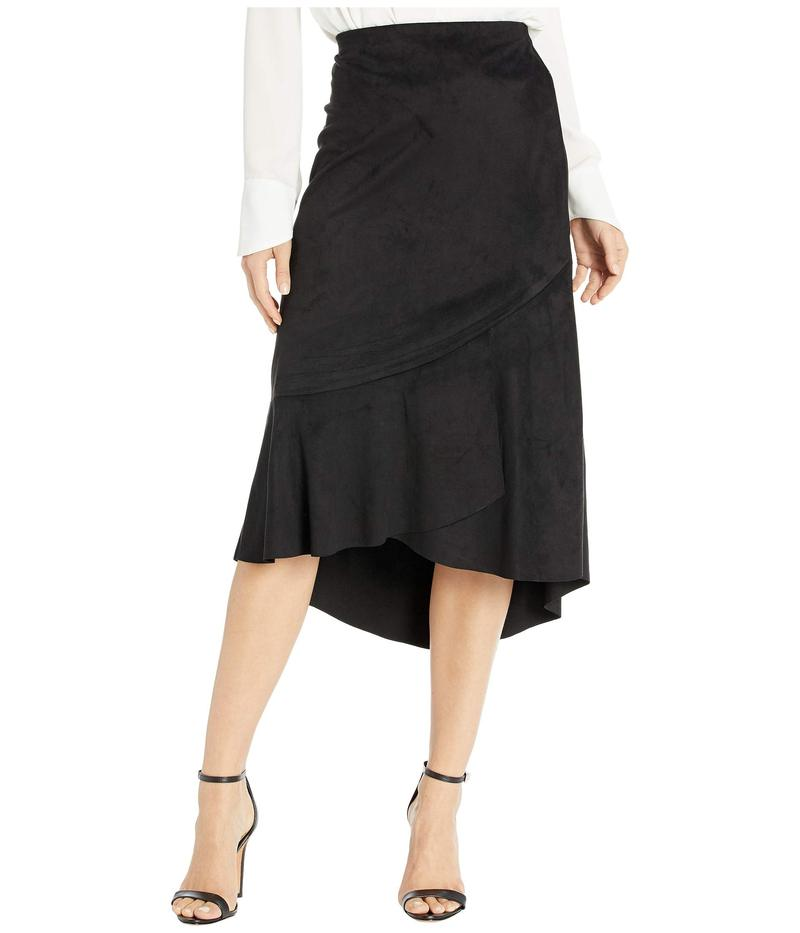 ケンジー レディース スカート ボトムス Stretch Suede Skirt with Ruffle Hem Detail KS0K6289 Black