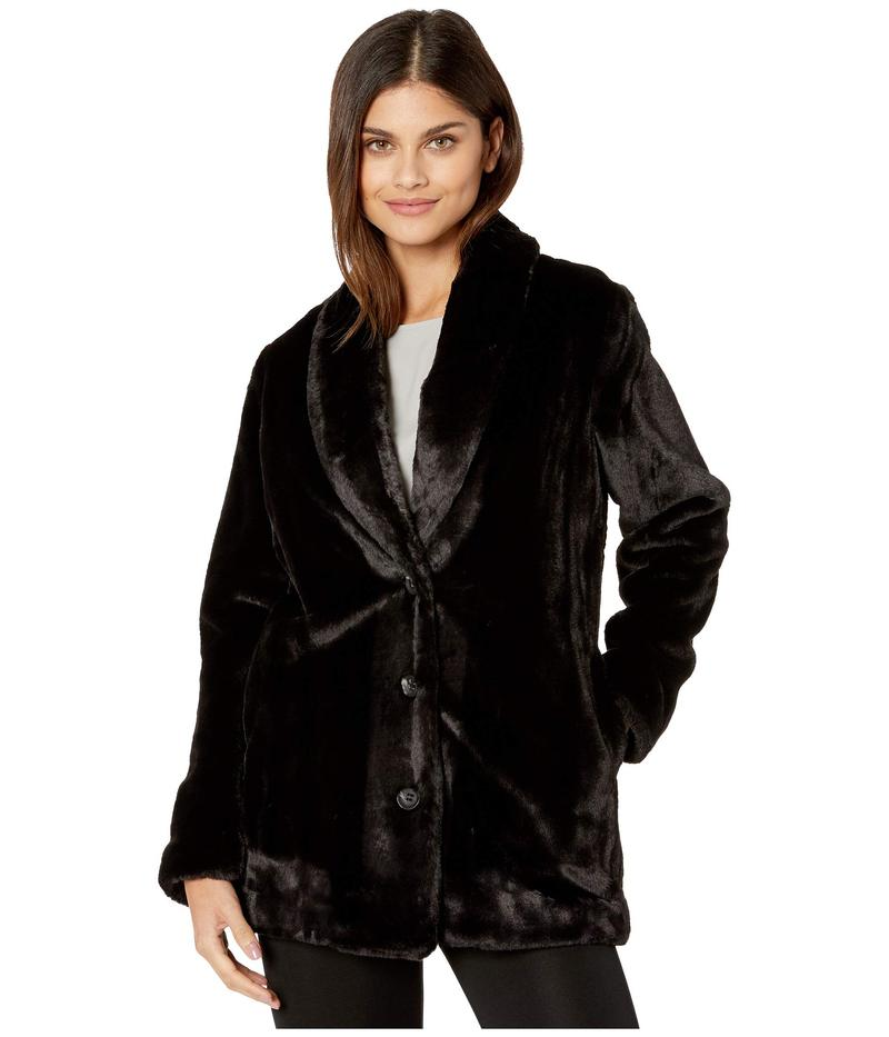 ケンジー レディース コート アウター Luxe Faux Fur Button Front Jacket KS0K2344 Black
