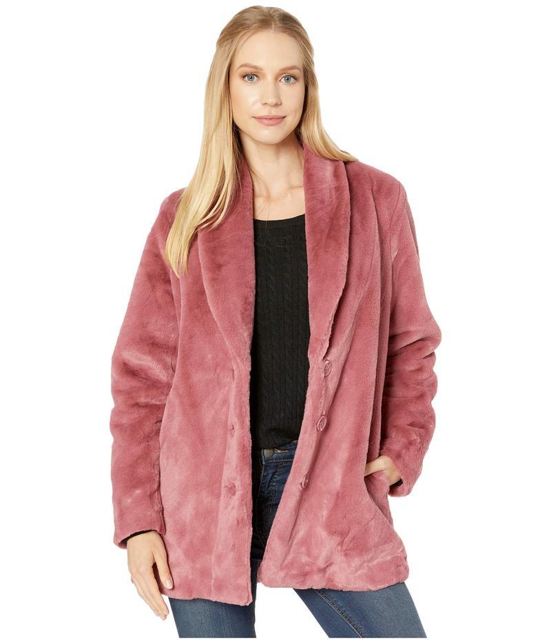 ケンジー レディース コート アウター Luxe Faux Fur Button Front Jacket KS0K2344 Vintage Rose