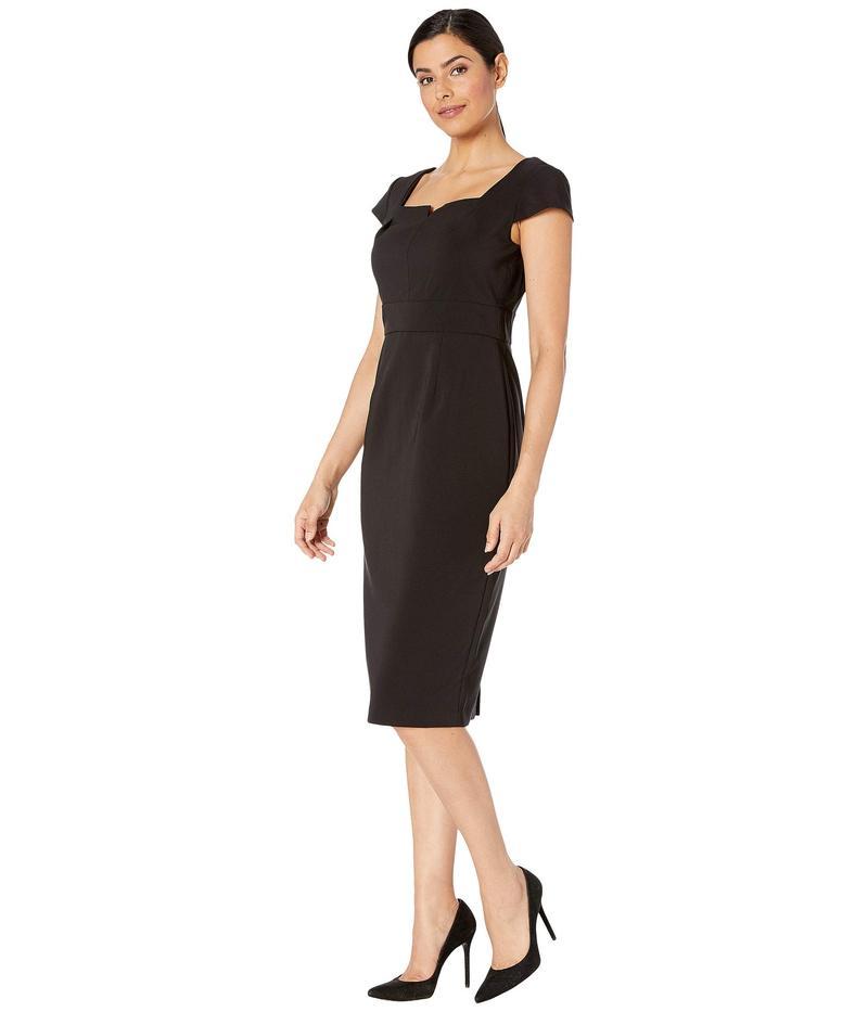 マギーロンドン レディース ワンピース トップス Dream Crepe Solid Sheath Dress Black1TFlJKc3