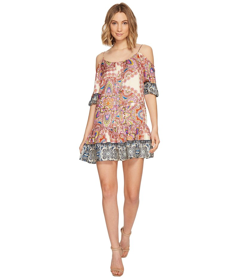 ニコルミラー レディース ワンピース トップス La Plage by Nicole Miller Mandala Paradise Cold Shoulder Dress Multi