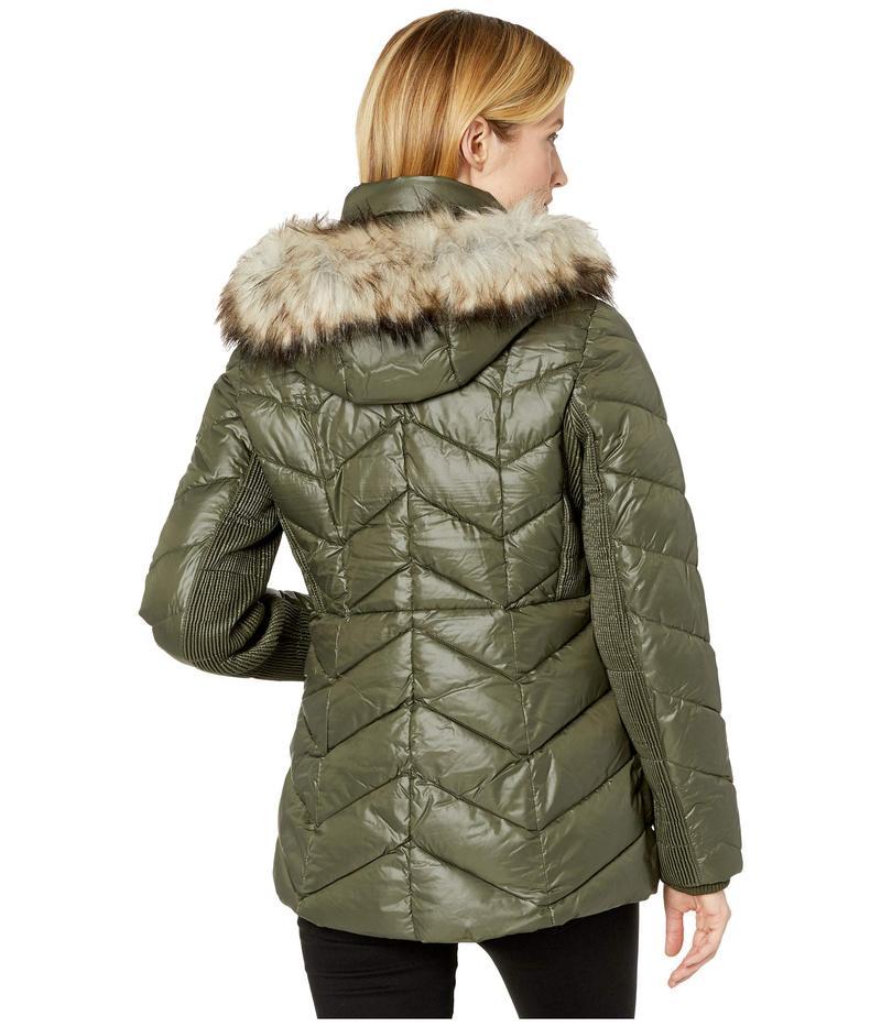 マイケルコース レディース コート アウター Short Down with Faux Fur Trim Hood M424153TZ IvyyY7vb6gf