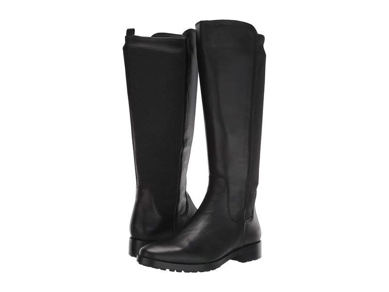 ナチュライザー レディース ブーツ・レインブーツ シューズ 27 Edit Kristi Wide Calf Black Leather/Textured Fabric