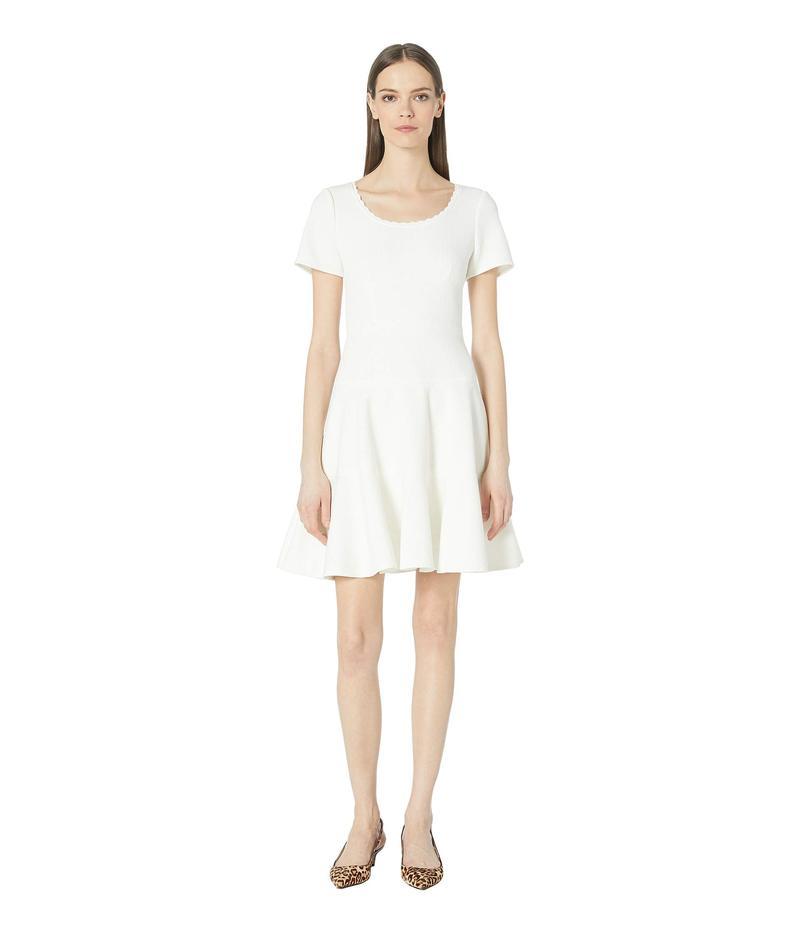 レベッカテイラー レディース ワンピース トップス Short Sleeve Stretch Texture Dress Snow