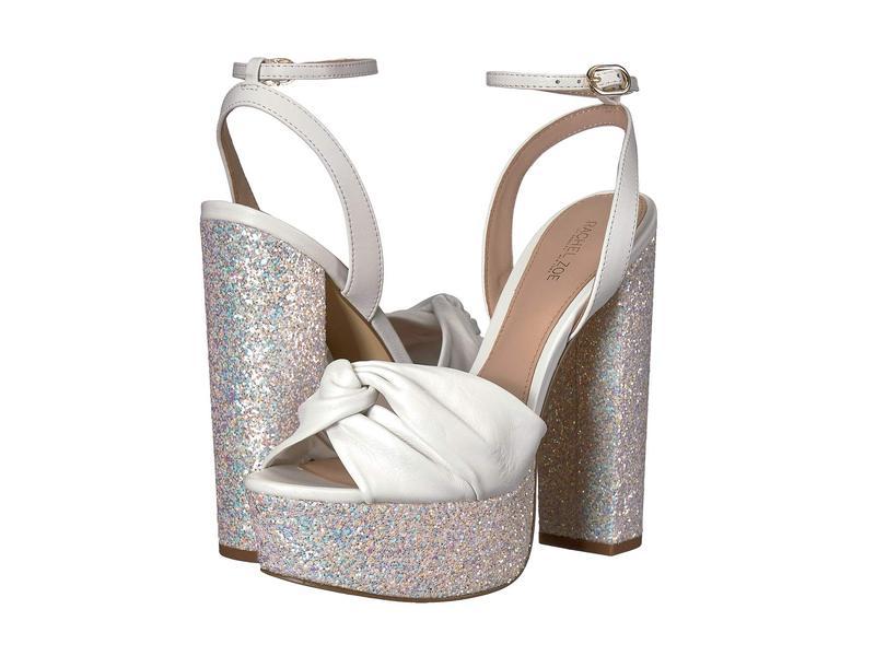 レイチェル ゾー レディース ヒール シューズ Claudette Glitter Platform Sandal White Glitter/Nappa