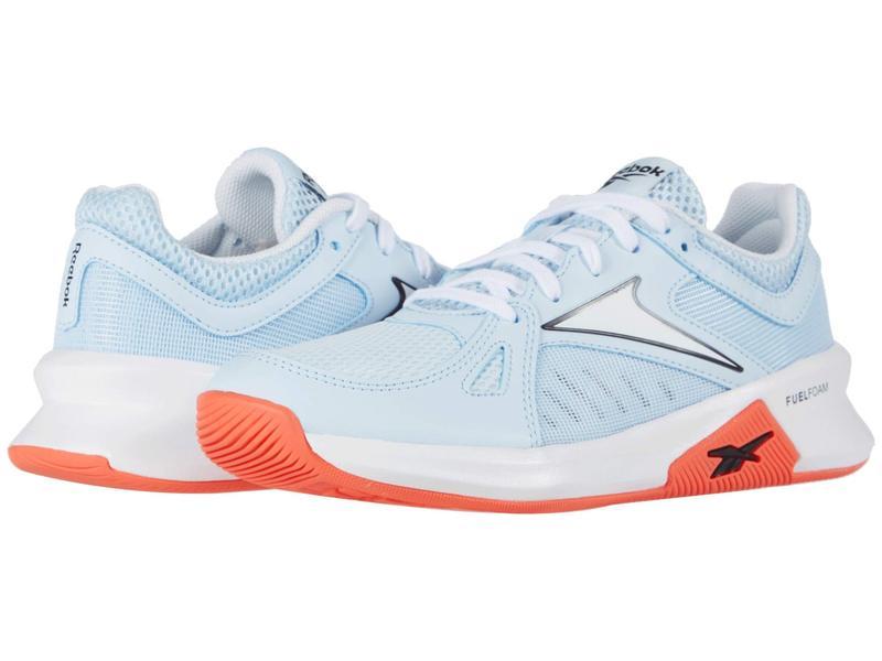 リーボック レディース スニーカー シューズ Advanced Trainette Glass Blue/White/Vivid Orange